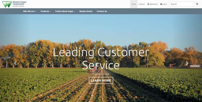 Western Sugar Cooperative Website Design